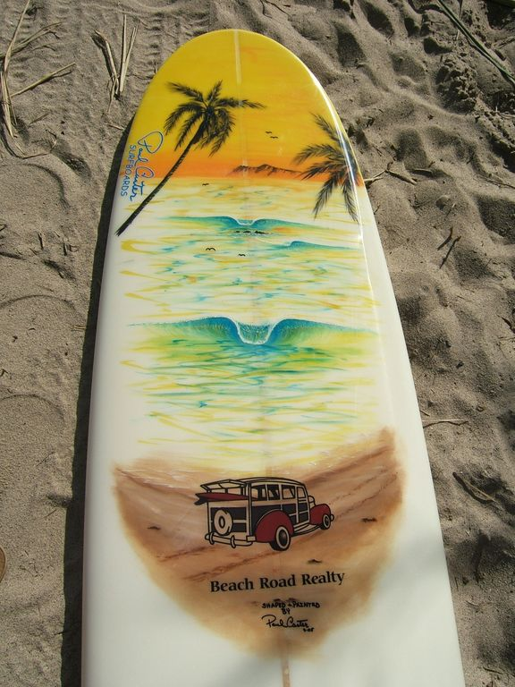 Beach Road Realty Surfboard | Beach Road Realty
