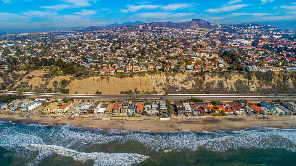 Ocean-In Aerial View - Beach Vacation Homes in Capistrano Beach - Dana Point | Beach Road Realty
