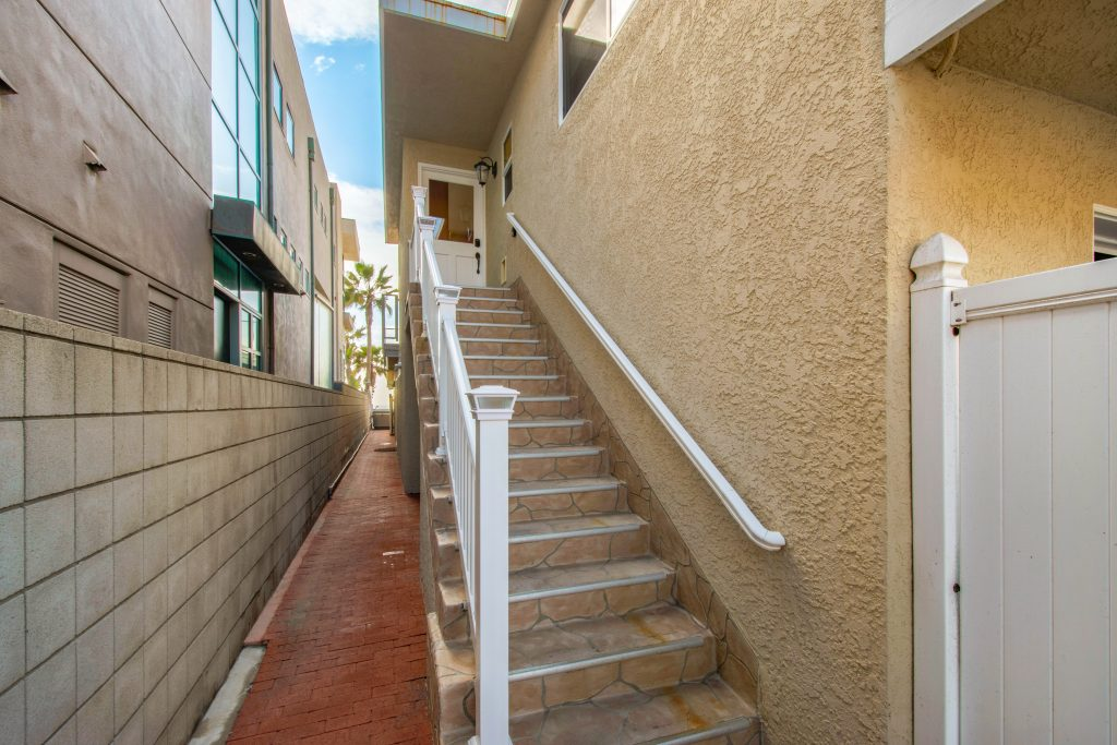 Upper Level Stairway Entry | 35119 Beach Road, Dana Point, CA | Beach Road Realty