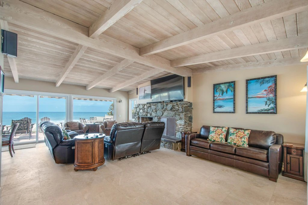 STR #21-1230 Lower Level Ocean View Living Area - Beach condition is subject to change with sea level rise, tides, and sand erosion - 35119 Beach Road, Dana Point, CA | Beach Road Realty