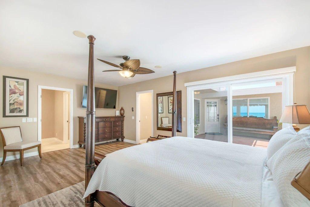 STR #21-1230 Lower Level Ocean View Primary Bedroom - 35119 Beach Road, Dana Point, CA | Beach Road Realty
