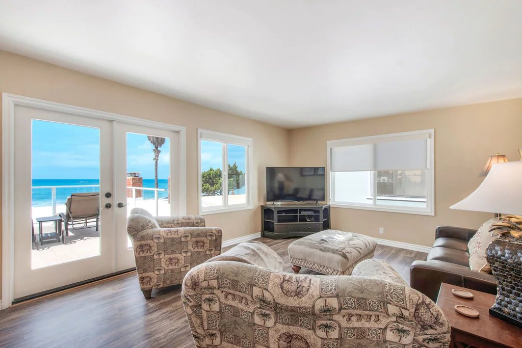 STR #21-1230 Upper Level Ocean View Great Room - Beach condition is subject to change with sea level rise, tides, and sand erosion - 35119 Beach Road, Dana Point, CA | Beach Road Realty