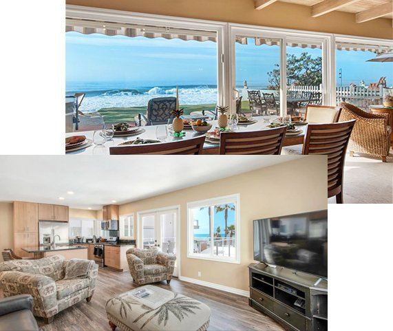 The vacation rentals are beautifully furnished and have white water views and luxury amenities and appointments that you would expect from a luxury ocean front vacation rental.